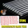 15 Types 10/12/15/20Pcs Thick Wall Borosilicate Blow Glass Blowing Tube Set
