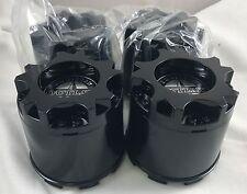 American Outlaw Wheels Gloss Black Wheel Center Caps Set of 4 # BC-893, BC-893B