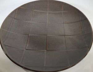 """Pier 1 Imports """"CUBIC"""" Brown Stoneware Dinner Plate"""