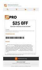 One 1x Home Depot $25 off $200Coupon In-Store Only-fast-
