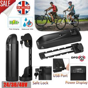 36V/48V E-Bike Battery Electric Bike Li-ion Pack Lockable With USB Charging Port