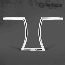 RUFF RON BARS LONG CHROME PLATED HANDLEBARS 7/8 MOUNT CHOPPER BICYCLE RAT ROD
