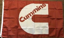 Cummins Flag 3x5 Red Racing Banner Diesel Power Man Cave Garage Engine