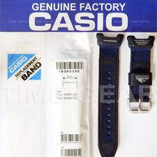 CASIO 10365735 GENUINE PATHFINDER: PAG-240B-2 BLUE / BLACK LEATHER / NYLON BAND