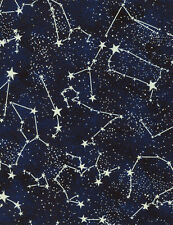 Timeless Treasures Glow in the Dark Constellation 100% cotton fabric by the yard
