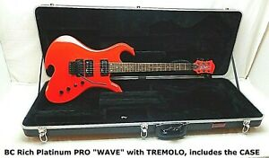 Rare NEW 2005 BC Rich WAVE electric Guitar with HARDSHELL CASE NOS/MAKE AN OFFER