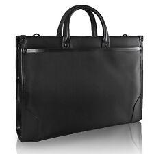 Unisex Briefcase Business Portfolio Case Tote Handbag Shoulder Bag 2Compartments