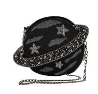Mary Frances Orbit, Embellished Leather Planet Novelty Crossbody Handbag NWT!