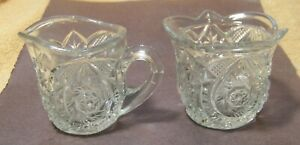 Pretty Vintage Glass SUGAR & CREAM Set