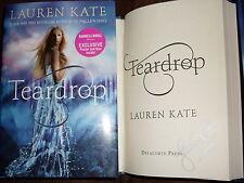 Lauren Kate signed Teardrop 1/1 HC book Barnes & Noble exclusive poster & quiz