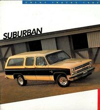 1986 Chevrolet Suburban Original Sales Brochure Catalog - Chevy