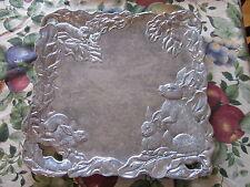 Arthur Court RARE Bunny Rabbit Square Large Plate Platter Serving Dish Tray Cute