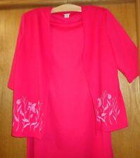 Woman's size XLGPT - Pink DRESS SUIT - Blair Boutique - Textured floral - Exclnt
