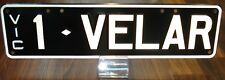 """1-VELAR"" VIC. PERSONALISED REGO. PLATES - FOR RANGE ROVER VELAR"