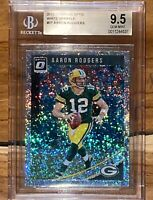 💎Aaron Rodgers 2018 Donruss OPTIC WHITE SPARKLE REFRACTOR /20 #37 BGS 9.5 PSA🔥