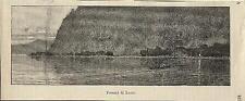 Stampa antica PARE' VALMADRERA Fornaci Lecco Lago di Como 1886 Old antique print