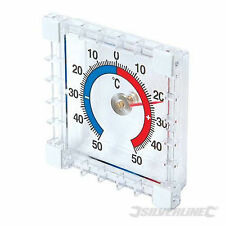 Indoor / Outdoor Stick-On Thermometer conservatory kitchen greenhouse  985719