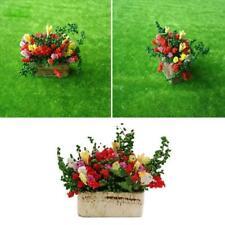1/12 Dollhouse Miniature Mini Model Finished Flower Doll House DIY#