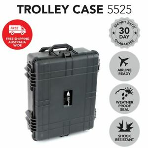 NEW Utility Trolley Hard Case Black Protective Travel Camera Drone Waterproof