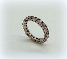 Anello Fedina circolare in bronzo rosa e zirconi rosa misura 12