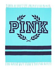 VICTORIA'S SECRET PINK TEAL BLUE BOYFRIEND FESTIVE PICNIC BEACH LARGE BLANKET
