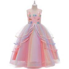 Girl's Unicorn Mesh Tutu Princess Dresses Party Formal Fancy Dress Kid Xmas Gift