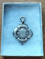 Antique 1928 Fully Hallmarked Sterling Silver Red Cross Fob Medal Free Postage