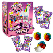 FINI UNICORN BALL LIQUID FILLED BUBBLEGUM RETRO SWEETS & CANDY 50/100/200 PIECES