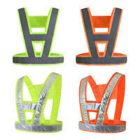 Reflective Safety Vest Lightweight Breathable Fluorescent Polyester Fabric Vest