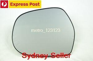 LEFT PASSENGER SIDE HEATED MIRROR GLASS FOR TOYOTA PRADO 2003 - 2009 120 SERIES
