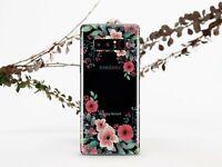 Floral Samsung Galaxy S10 Plus Gel Case Flowers Samsung S8 S9 Plus Silicone Case