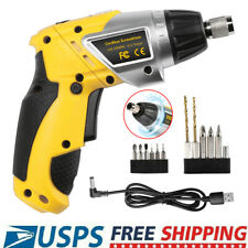 Wireless Power Tool Rechargeable Cordless Electric Screwdriver Drill Kit w/ LED
