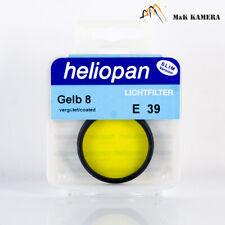 Heliopan 39mm Yellow E39 Gelb 8 3X -1.5 Filter Black for Summicron M 50/2.0 35/2