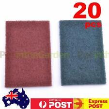 20pcs Abrasive Finishing Pads Scotch Brite Pads Fine Green/Red 15 x 10 x 0.7 cm