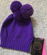 Versace Purple Knitted Beanie Wool Hat - Stretchable One Size fits all $169