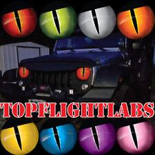 1988-2016 Jeep Wrangler Jason Brozak Headlight overlay Snake Eyes