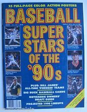 """1990 """"Baseball Super Stars of '90s"""" Magazine: 25 Full-Page Color Action Posters"""