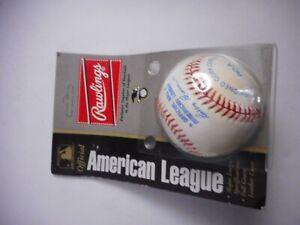 EKIM       American League  Rawlings Baseball Bobby Brown Presi.sealed on  card