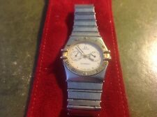 OMEGA MENS CONSTELLATION DAY/DATE WATCH 18CT GOLD BEZEL- ONLY OWNER FROM NEW