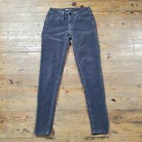 Levi's 535 Corduroy Jeans Legging Pants Sz 1 1M Gray Stretch Skinny Leg 24 x 28