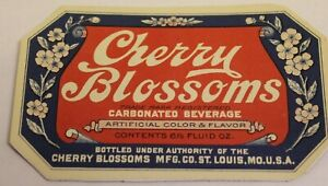 Cherry Blossoms Soda Magnet- Authentic label used
