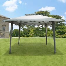 GSD 4m x 4m Gazebo Pop Up With Carry Bag On Wheels Roof Vent In Grey