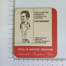 SOTTOBICCHIERE BIRRA BEER STELLA ARTOIS JOHN MCENROE 1990 MILANO RARO VERY RARE