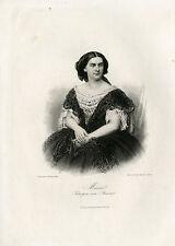 Antique Print-MARIE OF PRUSSIA-QUEEN-BAVARIA-Weger-1864