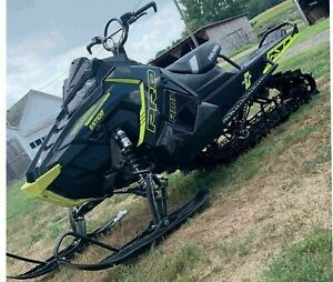 POLARIS L tunnel side panel decal hood  rocky AXYS 120 137 800 rmk lime black