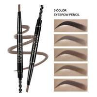 2 in 1 Waterproof Eyebrow Pencil Auto Eye Brow Eyeliner Pen Long-lasting Makeup