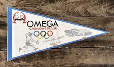 Omega VINTAGE FLAG PENNANT pennon Display 1963 Germania Spagna España Speedmaster
