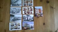Collection of Nine Postcards of Trams,Trucks,Bus etc.Including Black and White