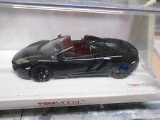 McLAREN MP4 MP4-12C Spider Roadster schwarz black Cabrio Truescale TSM SP 1:43
