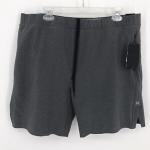 Hurley Mens Shorts Size XL Alpha Trainer Plus Gray 3 Zippered Pockets New Tags